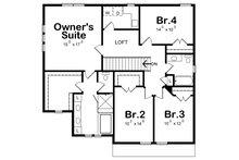 Craftsman Floor Plan - Upper Floor Plan Plan #20-2345