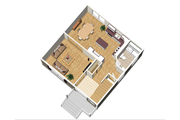 Traditional Style House Plan - 3 Beds 1 Baths 1352 Sq/Ft Plan #25-4414 Floor Plan - Main Floor Plan