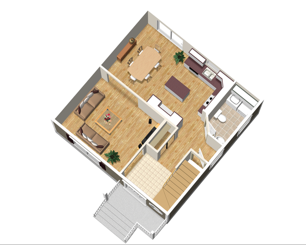 Traditional Floor Plan - Main Floor Plan Plan #25-4414