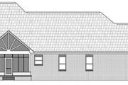 European Style House Plan - 3 Beds 2.5 Baths 2201 Sq/Ft Plan #21-195 Exterior - Rear Elevation