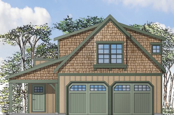 Craftsman Exterior - Front Elevation Plan #124-935