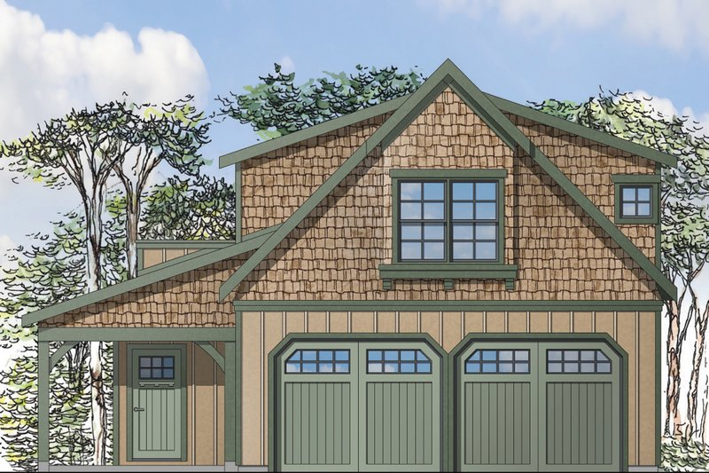 Home Plan - Craftsman Exterior - Front Elevation Plan #124-935