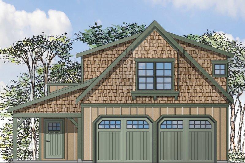 Dream House Plan - Craftsman Exterior - Front Elevation Plan #124-935
