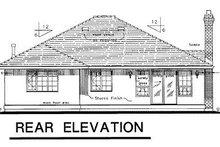 House Blueprint - Ranch Exterior - Rear Elevation Plan #18-112
