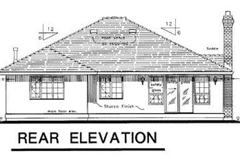 Ranch Exterior - Rear Elevation Plan #18-112 - Houseplans.com