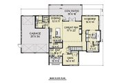 Contemporary Style House Plan - 3 Beds 2.5 Baths 2500 Sq/Ft Plan #1070-44 Floor Plan - Main Floor Plan