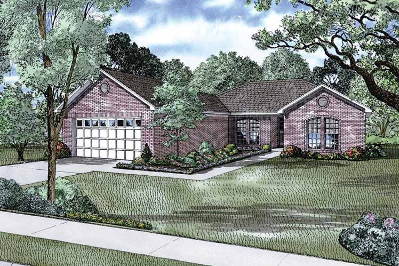 Craftsman Exterior - Front Elevation Plan #17-2808