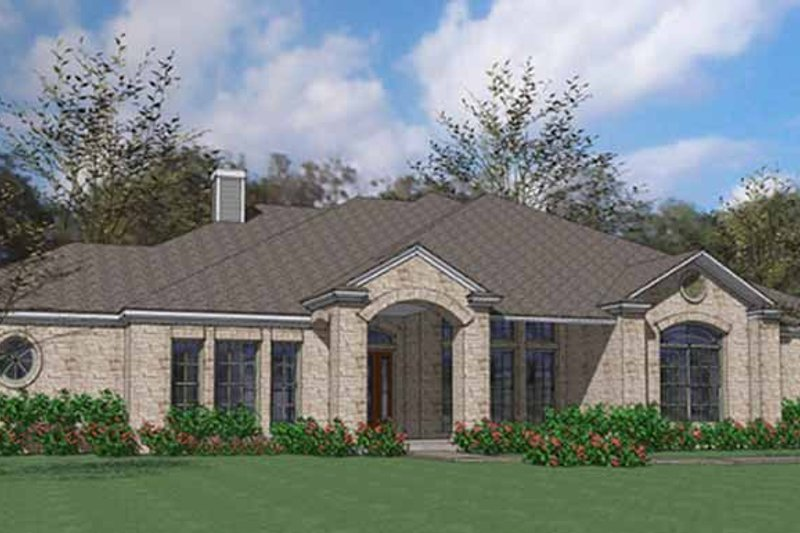 Country Exterior - Front Elevation Plan #120-202