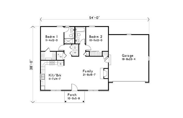 Home Plan - Ranch Floor Plan - Main Floor Plan #22-631