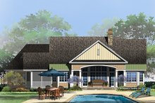 House Plan Design - Ranch Exterior - Rear Elevation Plan #929-995
