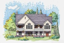 Country Exterior - Rear Elevation Plan #929-569
