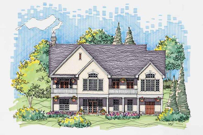 Country Exterior - Rear Elevation Plan #929-569 - Houseplans.com