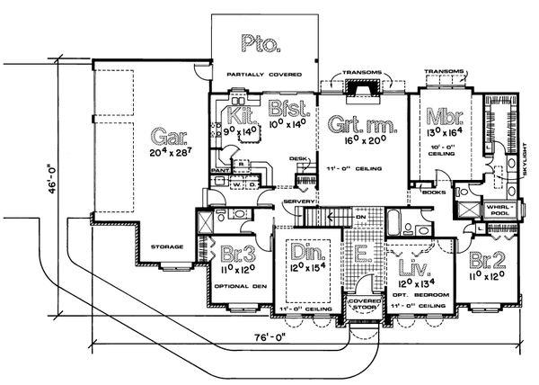 Architectural House Design - European Floor Plan - Main Floor Plan #20-103