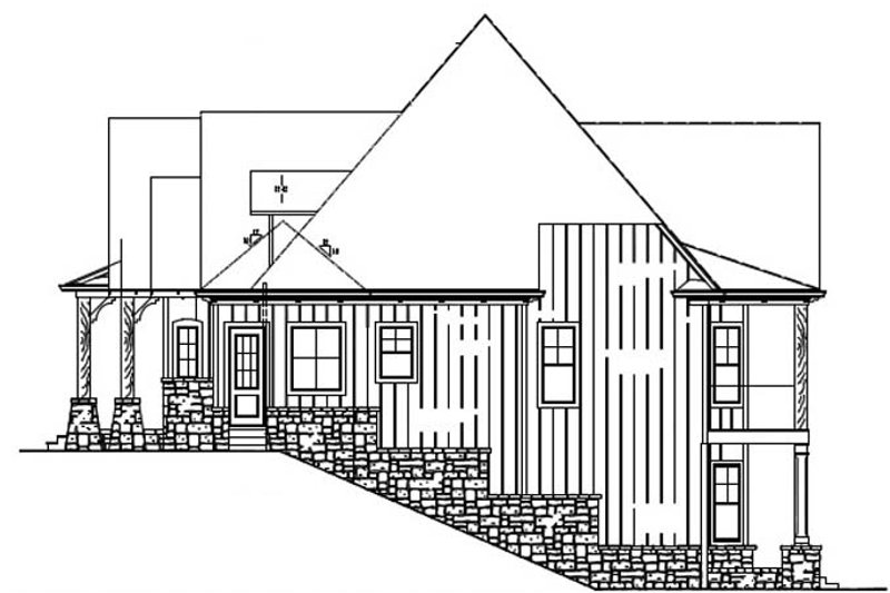 Ranch Exterior - Other Elevation Plan #54-365 - Houseplans.com