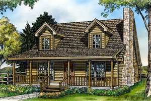 Country Exterior - Front Elevation Plan #140-148