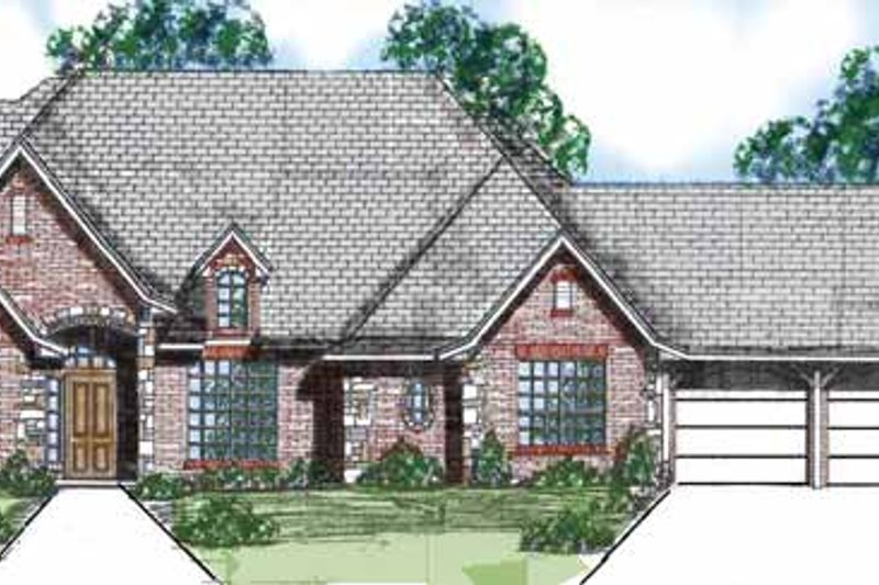 Traditional Exterior - Front Elevation Plan #52-285 - Houseplans.com