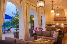 Architectural House Design - Mediterranean Exterior - Outdoor Living Plan #484-8