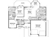 Craftsman Style House Plan - 2 Beds 2 Baths 1756 Sq/Ft Plan #18-4503 Floor Plan - Main Floor Plan