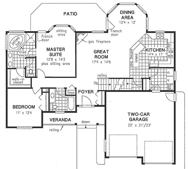 Craftsman Floor Plan - Main Floor Plan Plan #18-4503