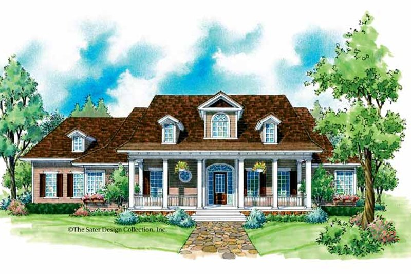 Colonial Exterior - Front Elevation Plan #930-225