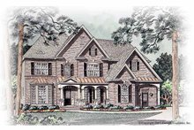 House Plan Design - Traditional Exterior - Front Elevation Plan #54-261