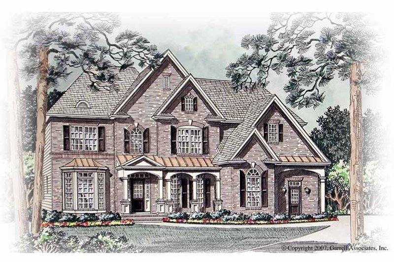 Traditional Exterior - Front Elevation Plan #54-261 - Houseplans.com