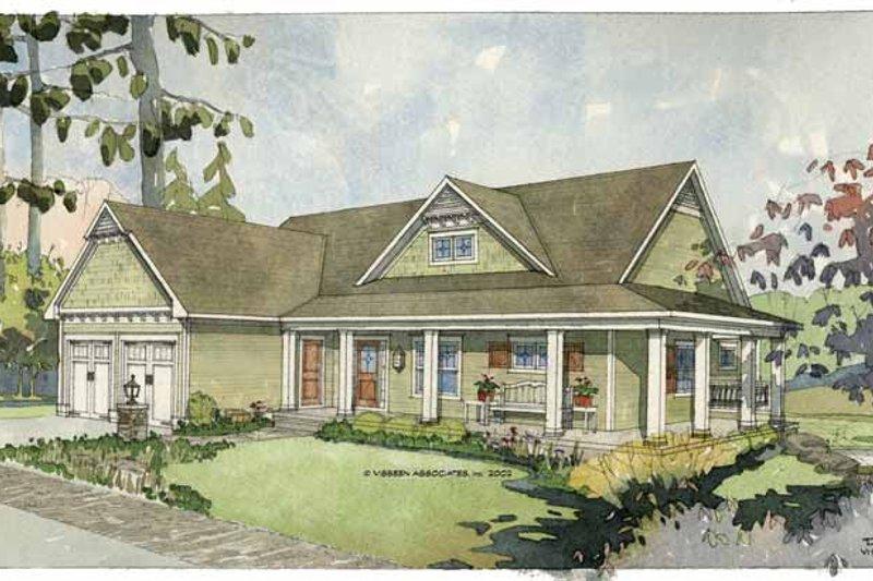 Craftsman Exterior - Front Elevation Plan #928-78