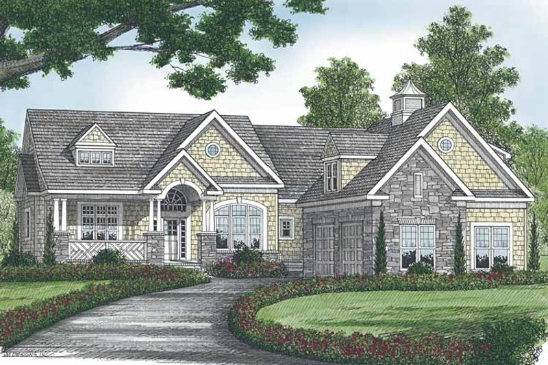 Dream House Plan - Craftsman Exterior - Front Elevation Plan #453-566