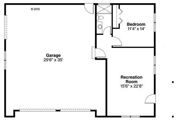 Craftsman Floor Plan - Main Floor Plan #124-1071