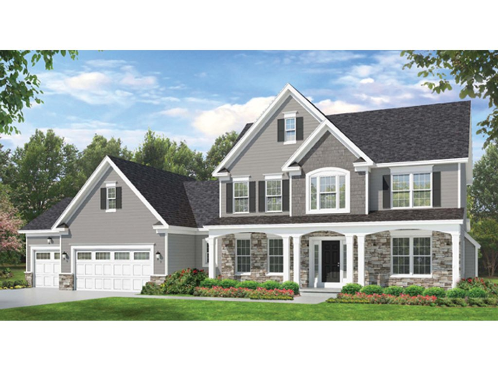 Colonial Style House Plan - 4 Beds 2.5 Baths 2523 Sq/Ft ...