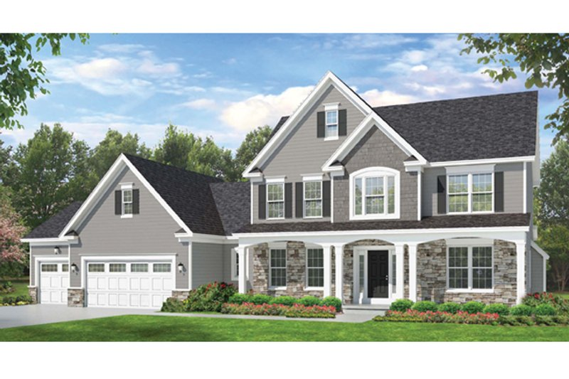 Colonial Exterior - Front Elevation Plan #1010-59 - Houseplans.com