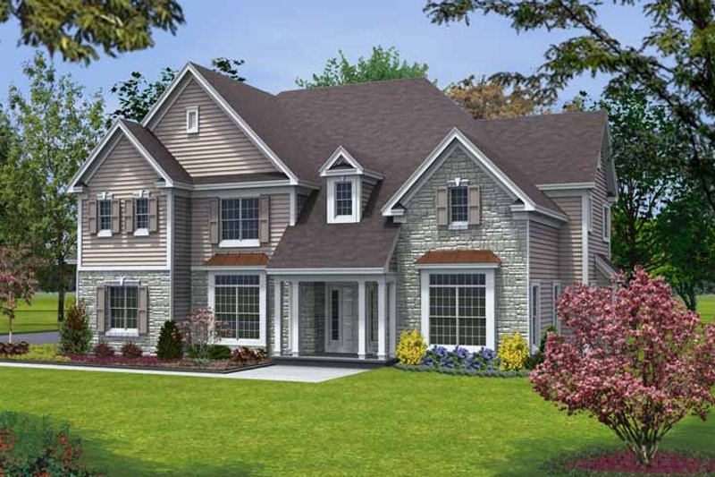 Architectural House Design - Traditional Exterior - Front Elevation Plan #328-452