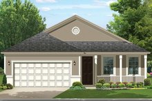 Ranch Exterior - Front Elevation Plan #1058-105
