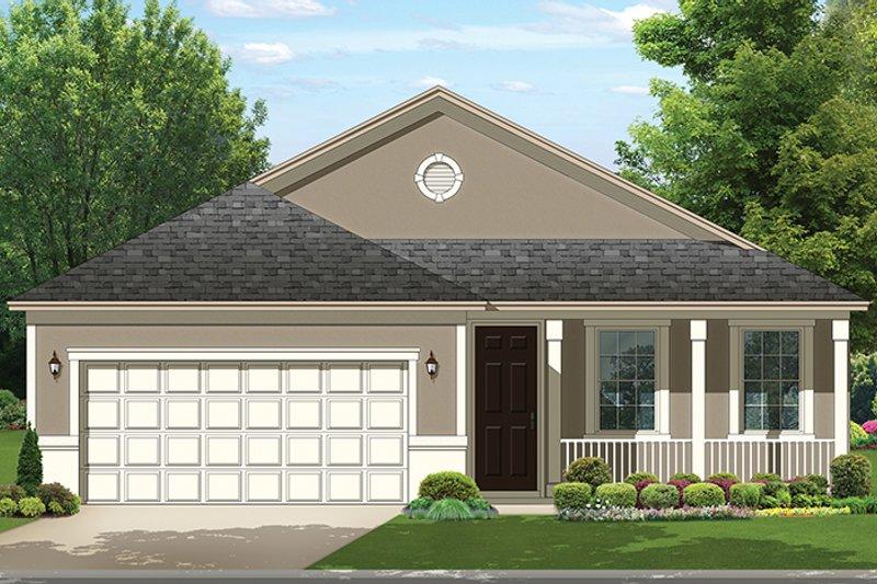 Ranch Exterior - Front Elevation Plan #1058-105 - Houseplans.com