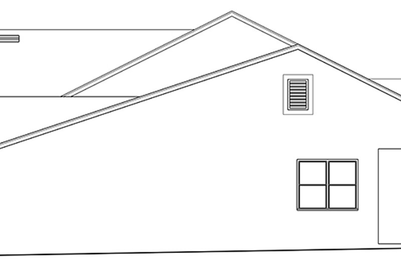 Ranch Exterior - Other Elevation Plan #1058-145 - Houseplans.com