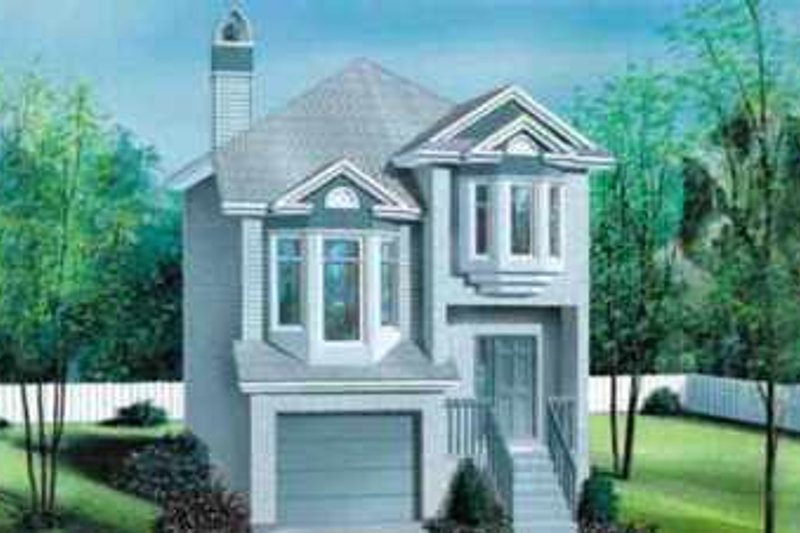 European Style House Plan - 2 Beds 2 Baths 1315 Sq/Ft Plan #25-3034 Exterior - Front Elevation