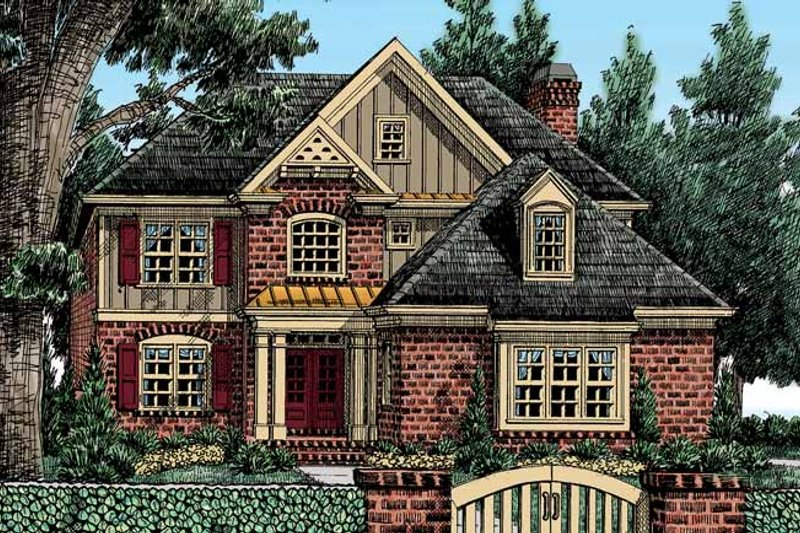 European Exterior - Front Elevation Plan #927-404