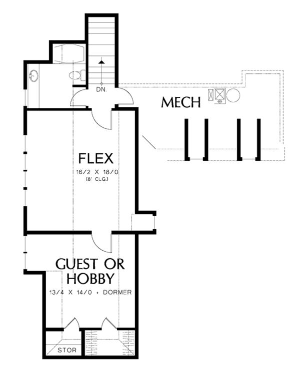 European Floor Plan - Upper Floor Plan Plan #48-878