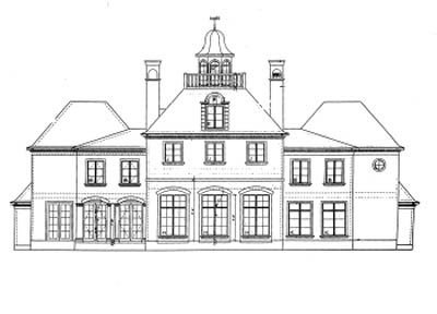 Farmhouse Exterior - Rear Elevation Plan #20-1117 - Houseplans.com