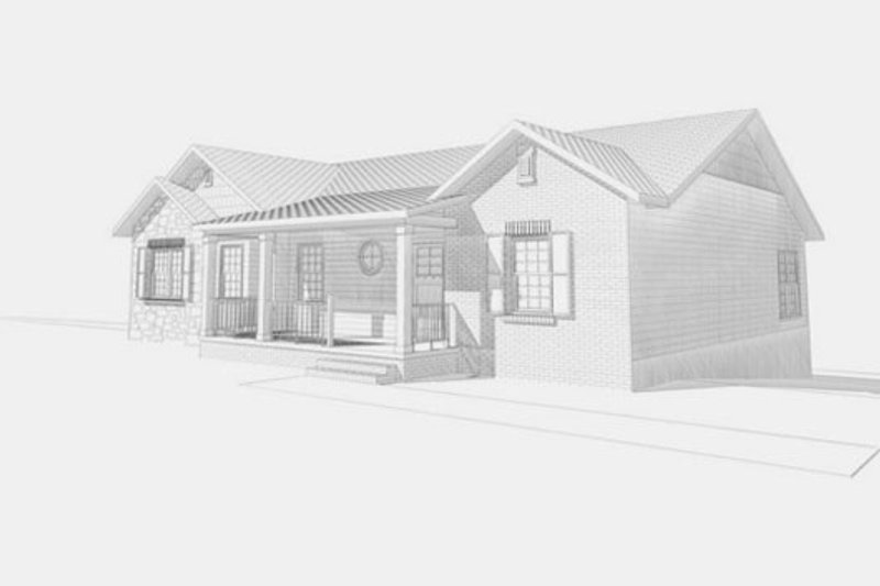 Ranch Style House Plan - 4 Beds 3 Baths 3428 Sq/Ft Plan #123-112 Exterior - Front Elevation