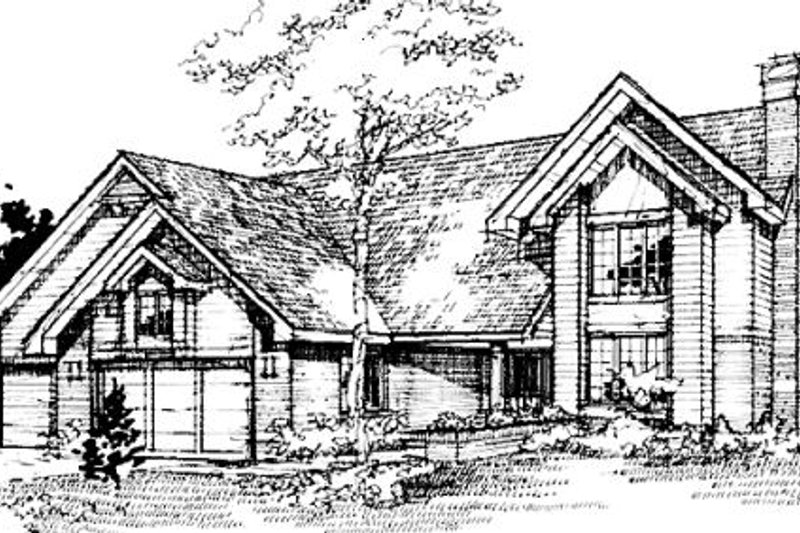 Traditional Exterior - Front Elevation Plan #320-361 - Houseplans.com