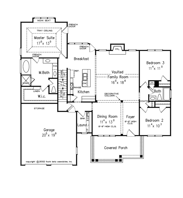 Architectural House Design - Colonial Floor Plan - Main Floor Plan #927-669