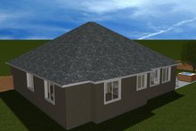 Ranch Exterior - Rear Elevation Plan #1060-34