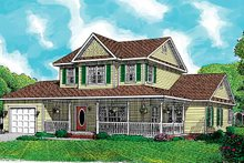 House Design - Country Exterior - Front Elevation Plan #11-244