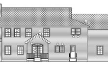 House Design - Traditional Exterior - Rear Elevation Plan #1061-3