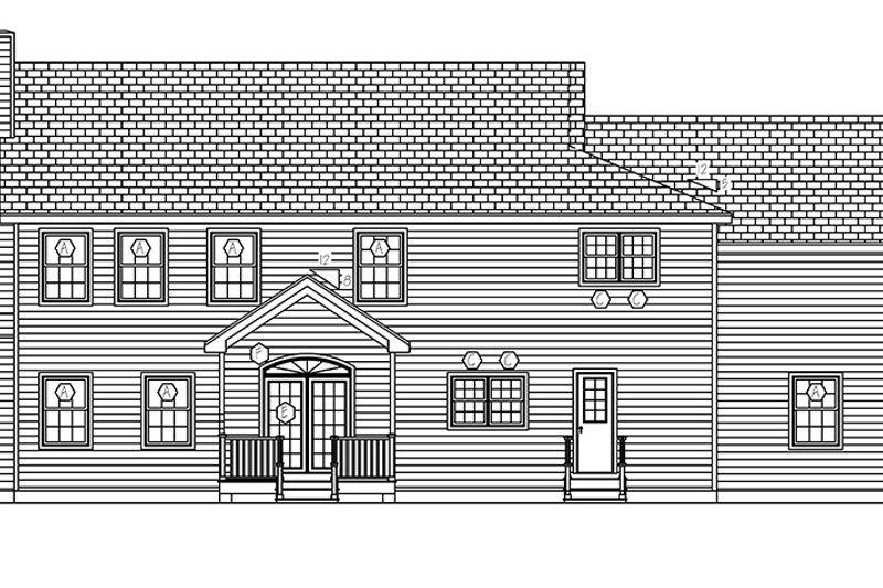Traditional Exterior - Rear Elevation Plan #1061-3 - Houseplans.com