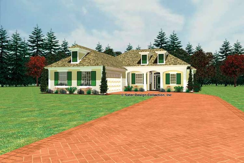Country Exterior - Front Elevation Plan #930-437
