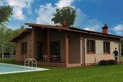 Modern Style House Plan - 3 Beds 1 Baths 1129 Sq/Ft Plan #538-13