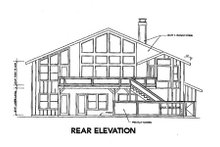 Craftsman Exterior - Rear Elevation Plan #124-333