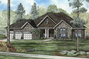 European Style House Plan - 5 Beds 3.5 Baths 5723 Sq/Ft Plan #17-2349 Exterior - Front Elevation